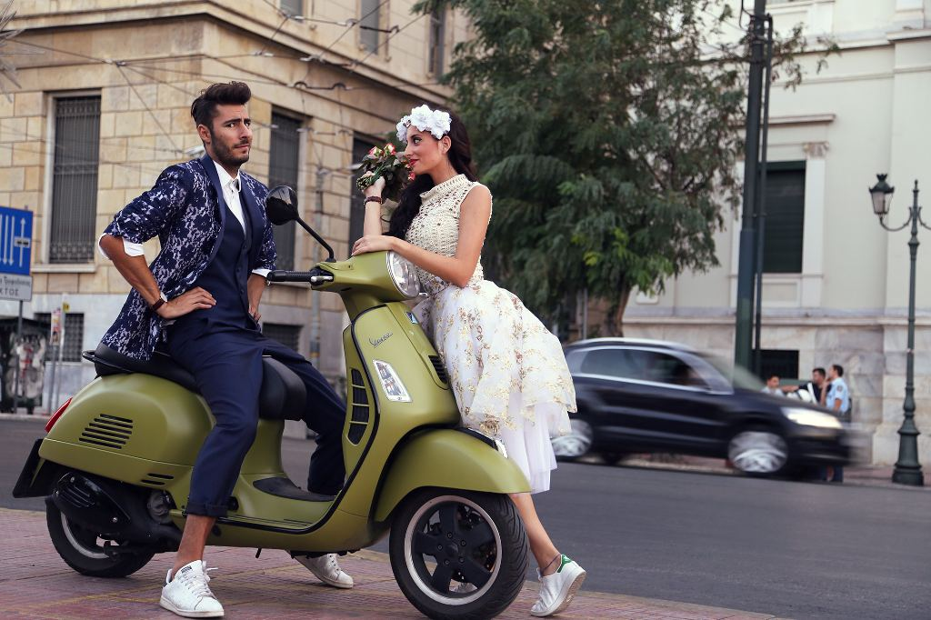 vespa wedding 1