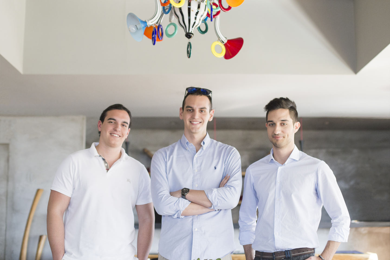 Από αριστερά Αλέξανδρος Χατζηγιαννάκης, Νικόλας Χατζηγιαννάκης, Κωνσταντίνος Μαυρογιάννης
