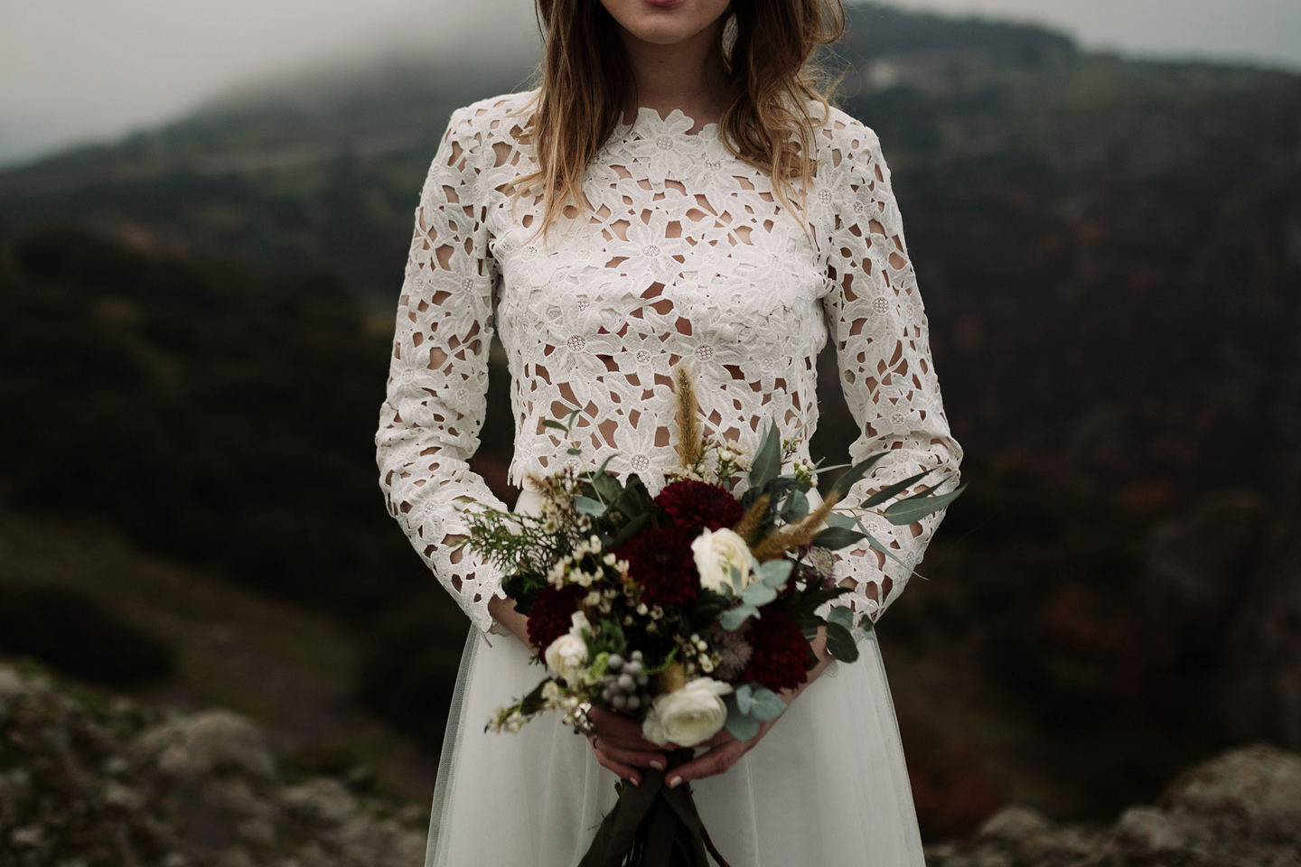 Winter Cliffside Elopement
