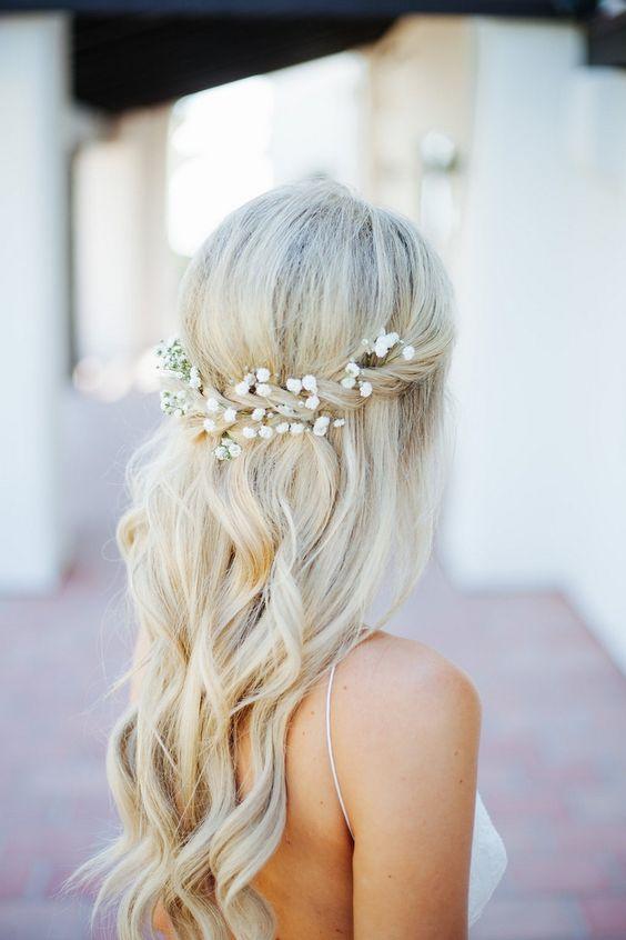 λαμπερά νυφικά μαλλιά