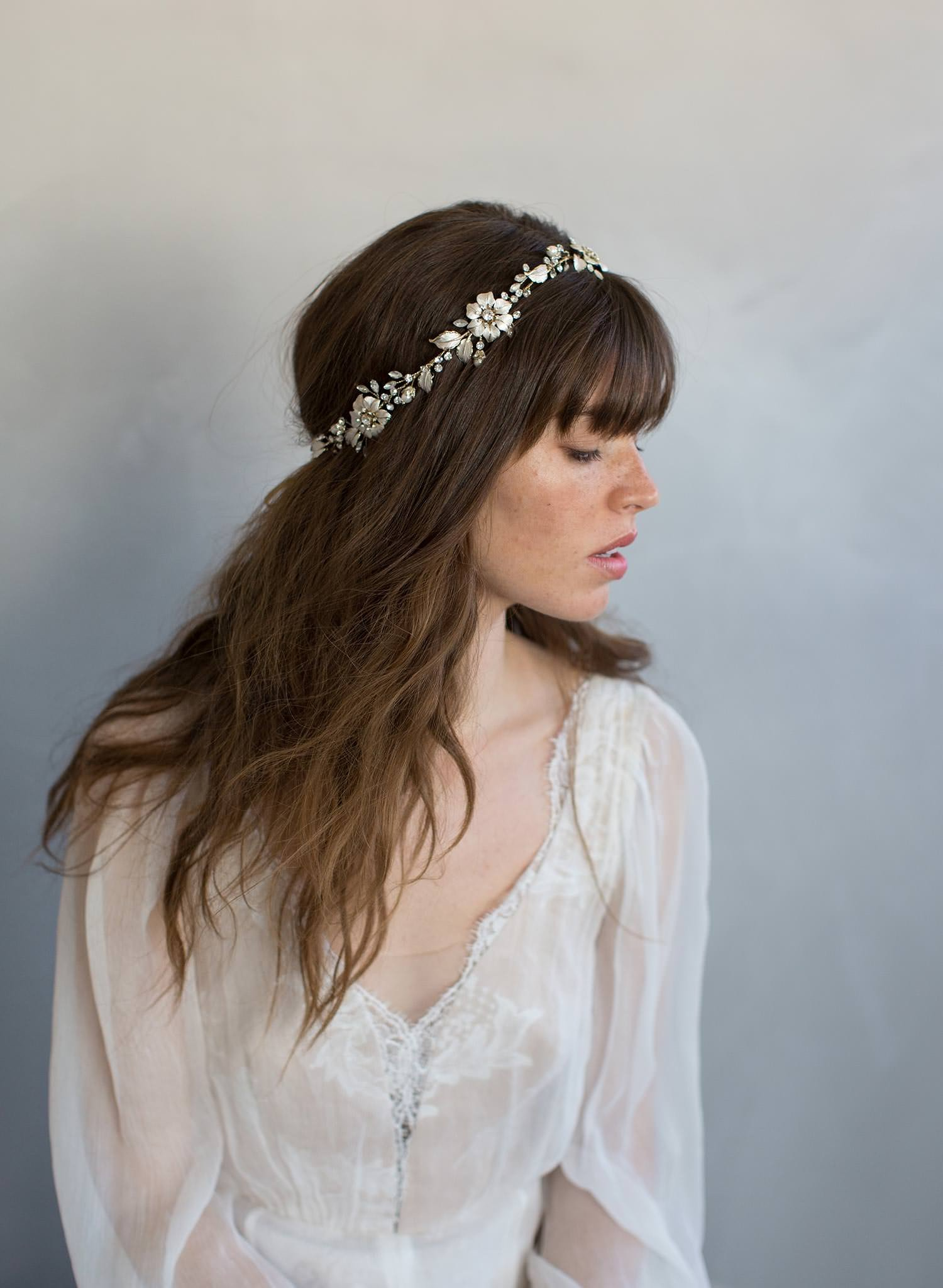Floral crystal headpiece Twigs and Honey