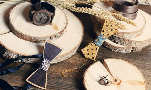 61c0cbdbf5bd 27 Wooden Accessories  Wood is the absolute groom s trend